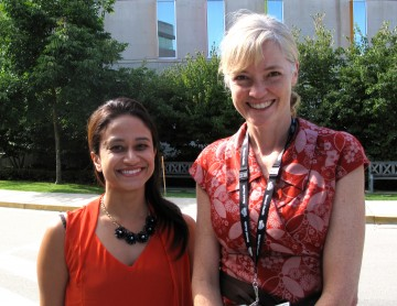 Dr. Smita Naidoo with CAP program director, Dr. Andrea Chapman